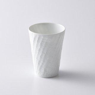 砂紋長フリーカップ中・白径7.0×9.2cm