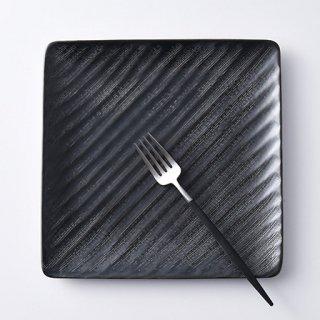 砂紋正角大皿・黒21.3×21.3cm