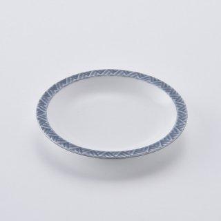 ジモンリング 15cm丸皿(シルバーグレー)
