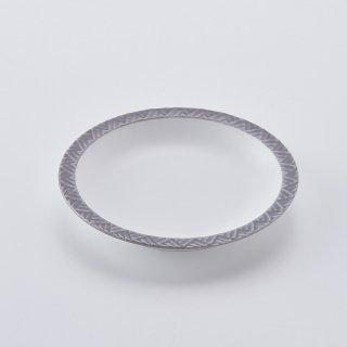 ジモンリング 15cm丸皿(スプリンググレー)