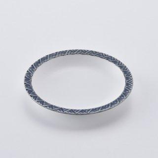ジモンリング 15cm丸皿(ネイビー)