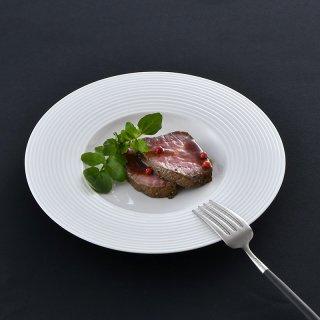 ライン ワイドリム皿(中)