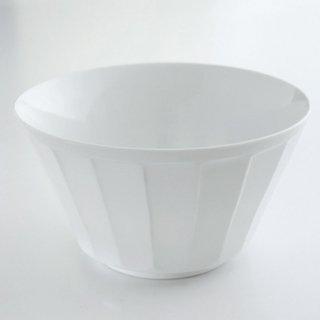 白磁面取彫 ボール(大)