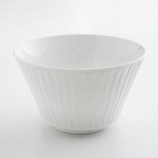 白磁草林彫 ボール(小)