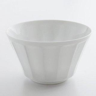 白磁面取彫 ボール(小)