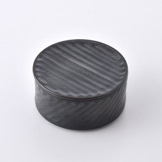 黒マット 蓋物