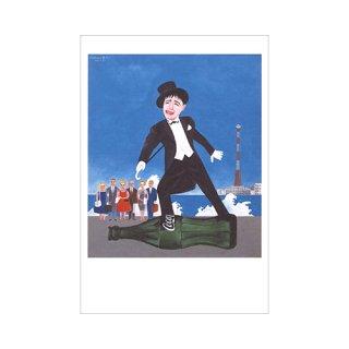 オリジナルポストカード 横尾忠則「美空ひばり」