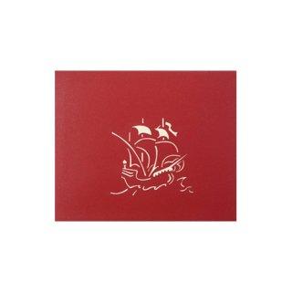 """POP UP CARD COMPLEX """"Ship"""""""