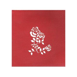 "POP UP CARD COMPLEX ""Rose"""