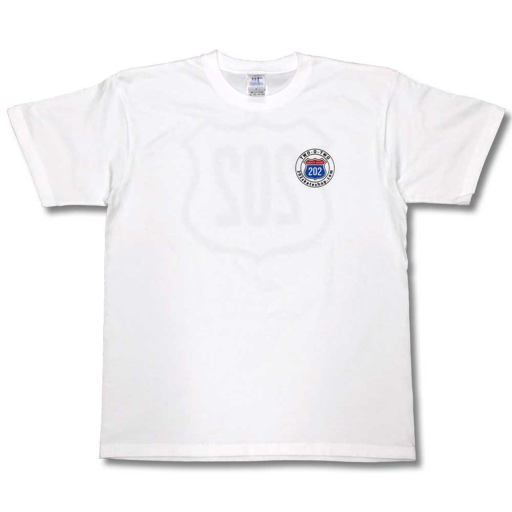 ツー・オー・ツースケートショップ ロゴT-シャツ ホワイト 202SSKATE LOGO T-SHIRT WHITE