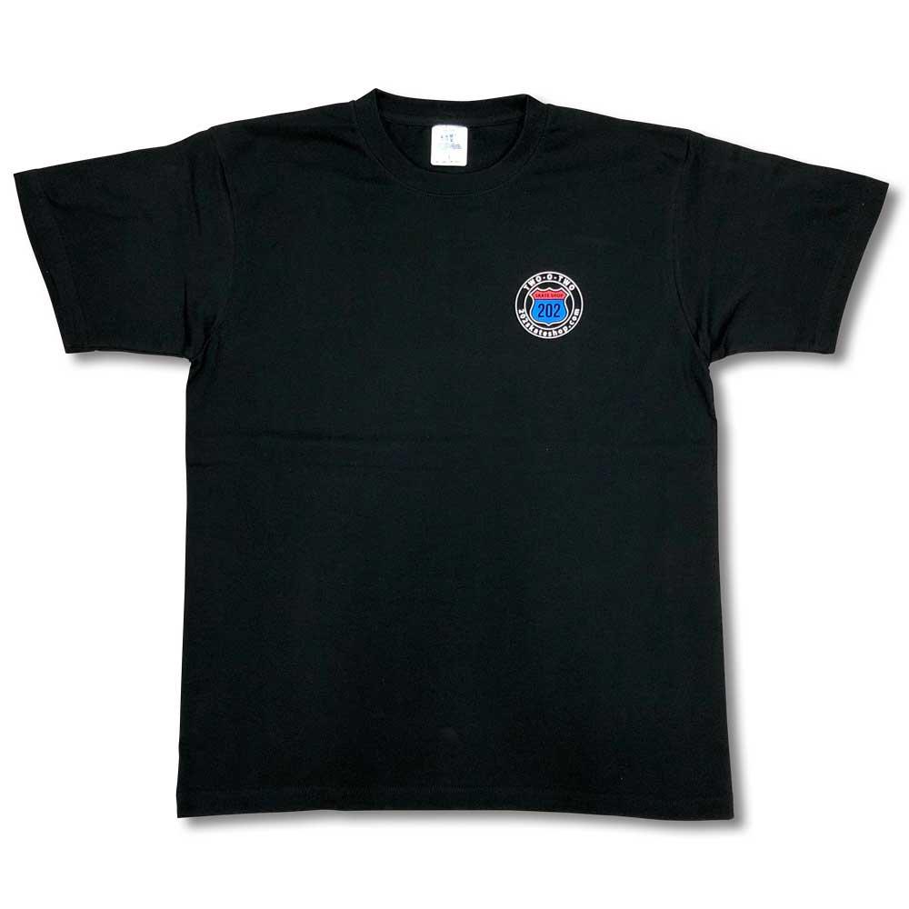 ツー・オー・ツースケートショップ ロゴT-シャツ ブラック 202SSKATE LOGO T-SHIRT BLACK