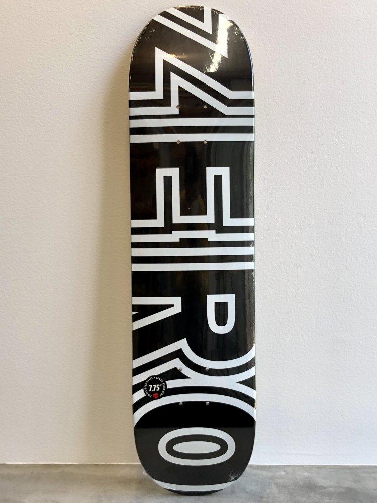 ゼロスケートボード BOLD CLASSIC BLACK デッキ W7.75 ZERO BOLD CLASSIC BLACK W7.75