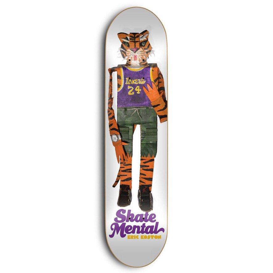 スケートメンタル Koston Tiger White デッキ Skate Mental Koston Tiger White DECK W8.375