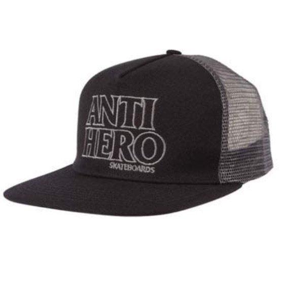 アンタイヒーロー BLACK HERO OUTLINE スナップバックキャップ ANTIHERO BLACK HERO OUTLINE Snapback CAP BLACK/GREY