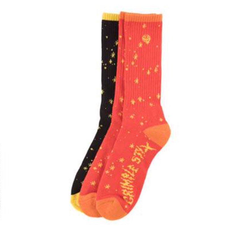 アンタイヒーロー GRIMPLE DUST ソックス 3 Sock Set ANTIHERO GRIMPLE DUST SOX 3 Sock Set RED/YELLOW