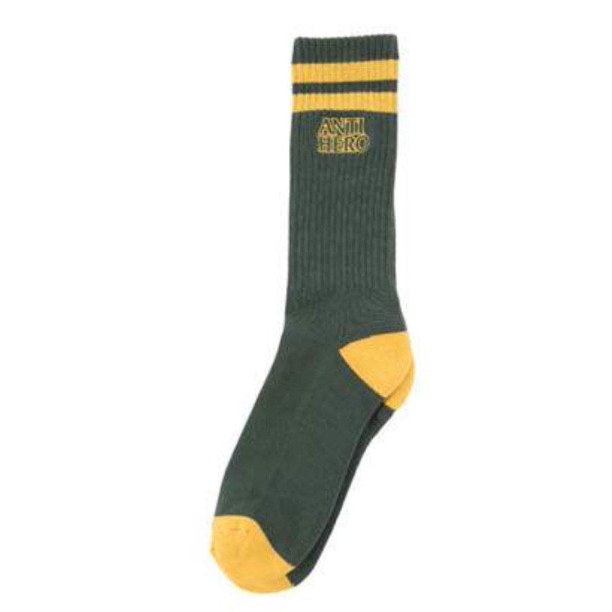 アンタイヒーロー BLACKHERO OUTLINE ソックス ANTIHERO BLACKHERO OUTLINE Sock  GREEN/YELLOW