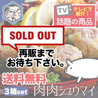 【送料無料】熱海シュウマイ 肉肉シュウマイ 焼売 8個入り×3箱【熱海市の土石流災害支援:1個に付き10円を熱海市に寄付します】