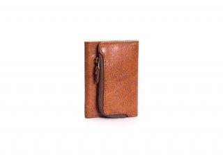 ポケットにもインできる手のひらサイズの3つ折り本革短財布[クリフ短財布]
