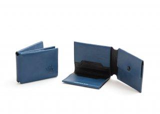 小銭入れの機能も付いた折り紙タイプの本革二つ折り財布[FANTOM-50 ファントム・財布]