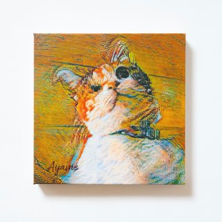 名画調キャンバスアート 正方形Sサイズ(横20×縦20×厚み3.7�)