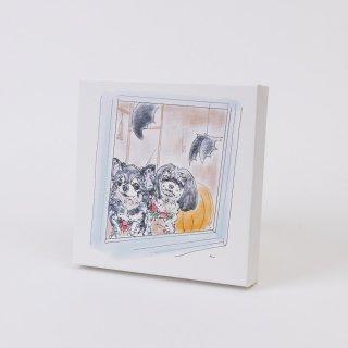 名画調キャンバスアート 正方形Lサイズ(横40×縦40×厚み3.7�)