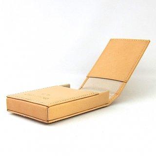 名刺ケース カードケース 縦型 ボックス 本革 イタリアンレザー