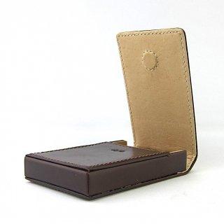 名刺ケース ビジネスカード 縦型 ボックス マグネット 本革 ブライドルレザー