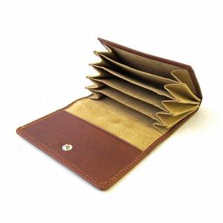 カードケース カードファイル 蛇腹 メンズ レディス 本革 イタリアンレザー