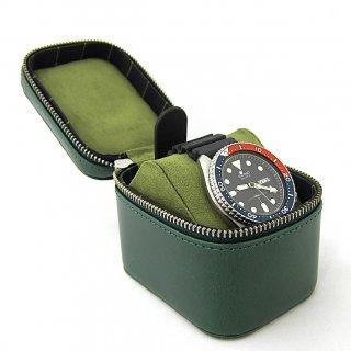 ウォッチケース 腕時計ケース ラウンドファスナー 本革 イタリアンレザー