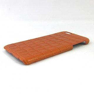 iPhone6 Plus / 6s Plus 背面ケース プラスティック 本革 クロコダイル
