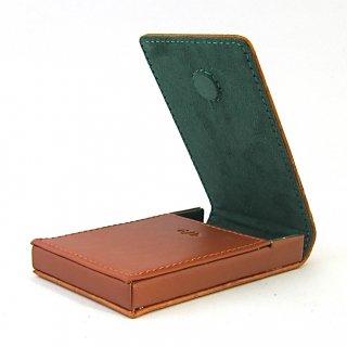 名刺ケース ビジネスカードケース 縦型 ボックス 本革 クロコダイル