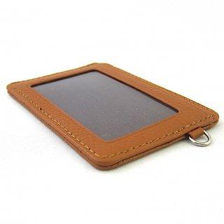 パスケース カードケース シンプル コンパクト 本革 ペブルグレイン