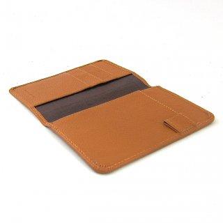 パスポートケース 薄い 航空券 機能的 コンパクト 本革 ペブルグレイン