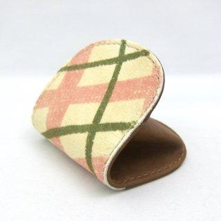 コインケース 小銭入れレディース ボックス型 本革 ハラコ チェック