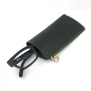 メガネケース 眼鏡ケース ペンケース メンズ 薄い フック 本革 イタリアンレザー