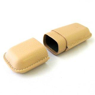 メガネケース 眼鏡ケース ペンケース キャップ 鞘型 絞り 本革 シュリンク