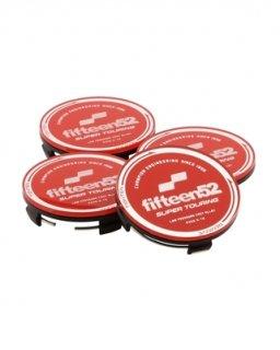 fifteen52スーパーツーリングセンターキャップセット-レッド/クローム