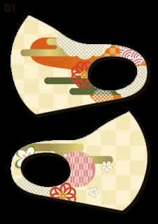絵図屋オリジナル柄マスク01-04(2枚入)