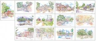 奈良ひとまち百景ポストカード13枚セット