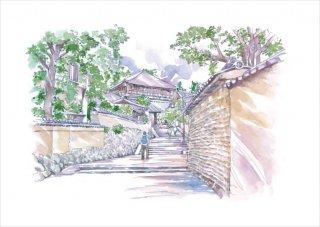 ひとまち百景ポストカード 東大寺の裏道