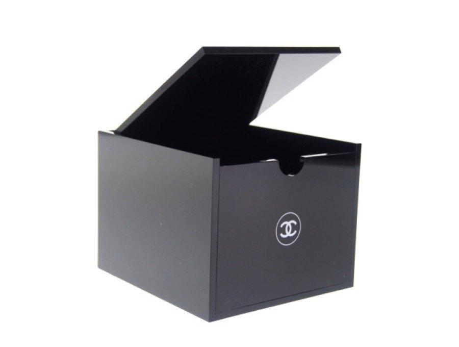 【新品】シャネル CHANEL ノベルティ アクリルケース ルージュスタンド 蓋つき ブラックの商品画像