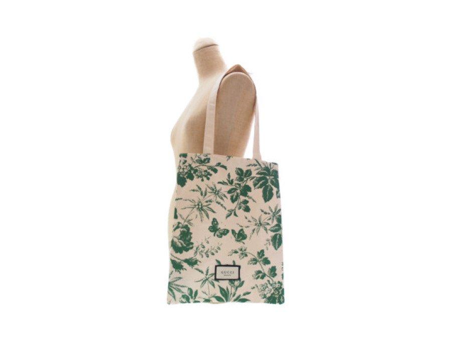 【新品】グッチビューティー GUCCI BLOOM ノベルティ トートバッグ beauty 花柄 蝶々 グリーンの商品画像