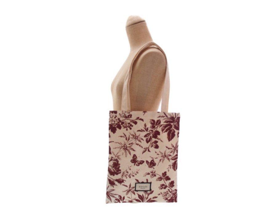 【新品】グッチビューティー GUCCI BLOOM ノベルティ トートバッグ beauty 花柄 蝶々 ブラウンの商品画像