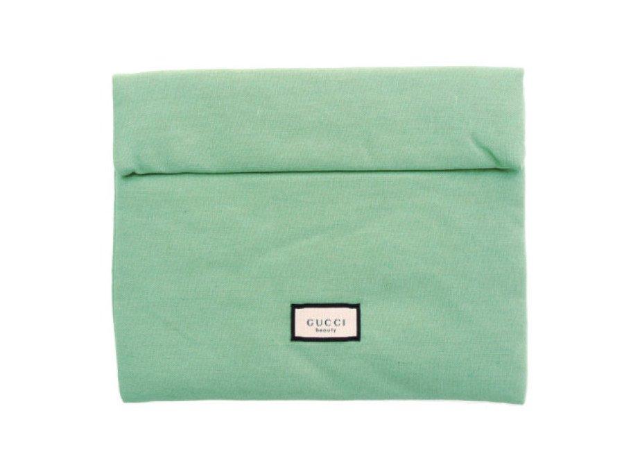 【新品】グッチ GUCCI ノベルティ ビューティー フラットポーチ Wボタン グリーン beautyの商品画像