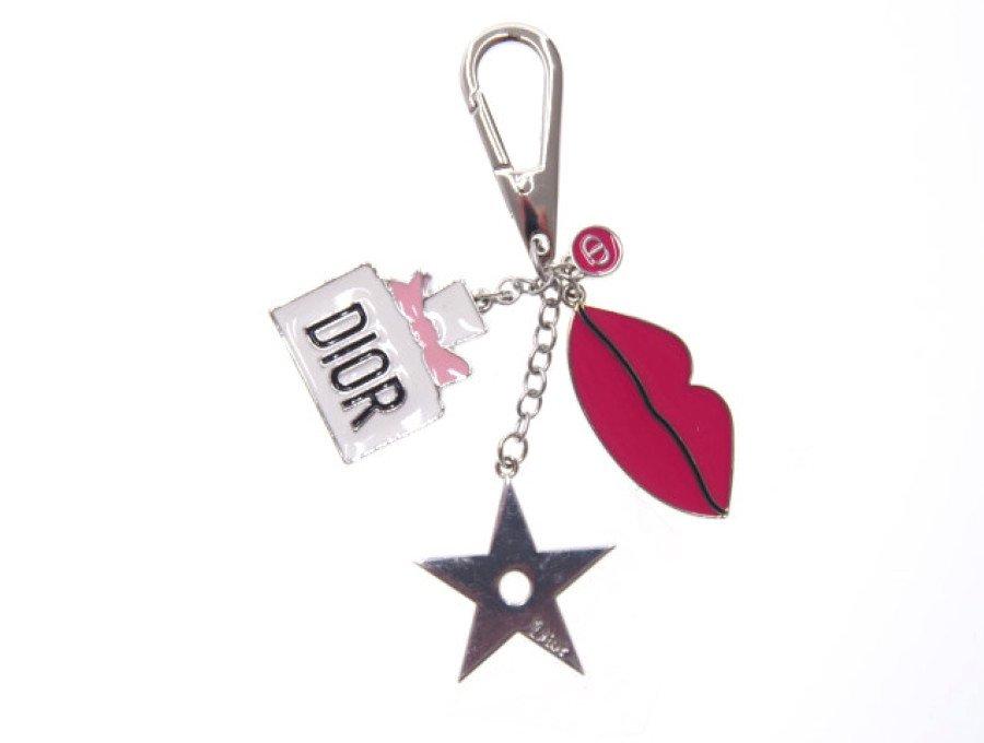 【新品】クリスチャンディオール Dior ノベルティ キーホルダー チャーム 星 リップの商品画像