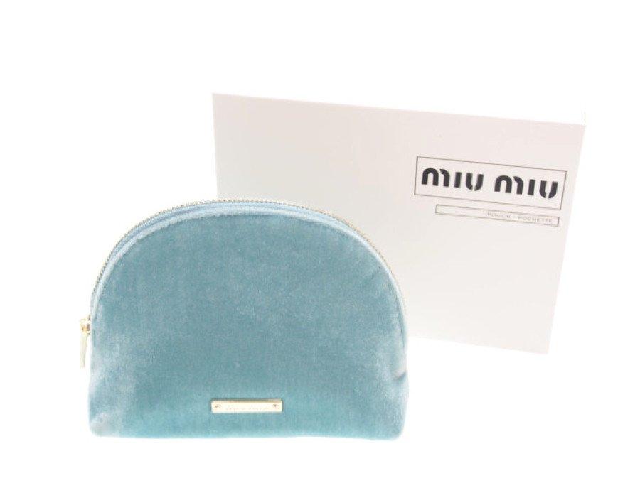 【新品】ミュウミュウ MIU MIU ノベルティ コスメポーチ パフューム ブルーの商品画像