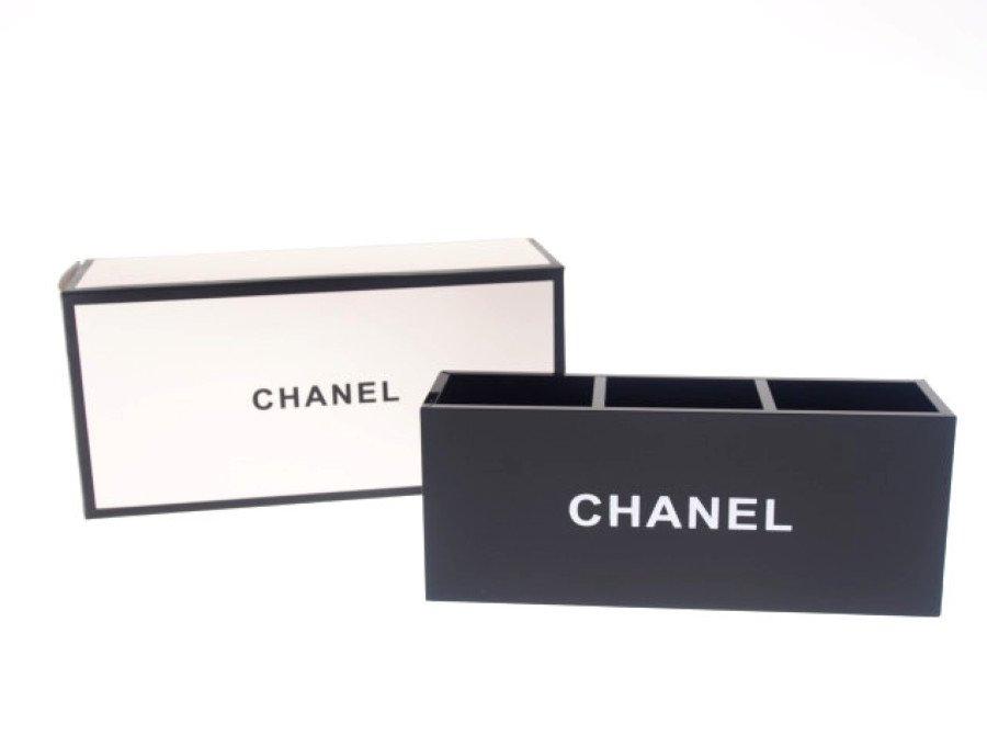 【新品】シャネル CHANEL ノベルティ アクリルケース ルージュ スタンド 3マス 箱付き ブラックの商品画像