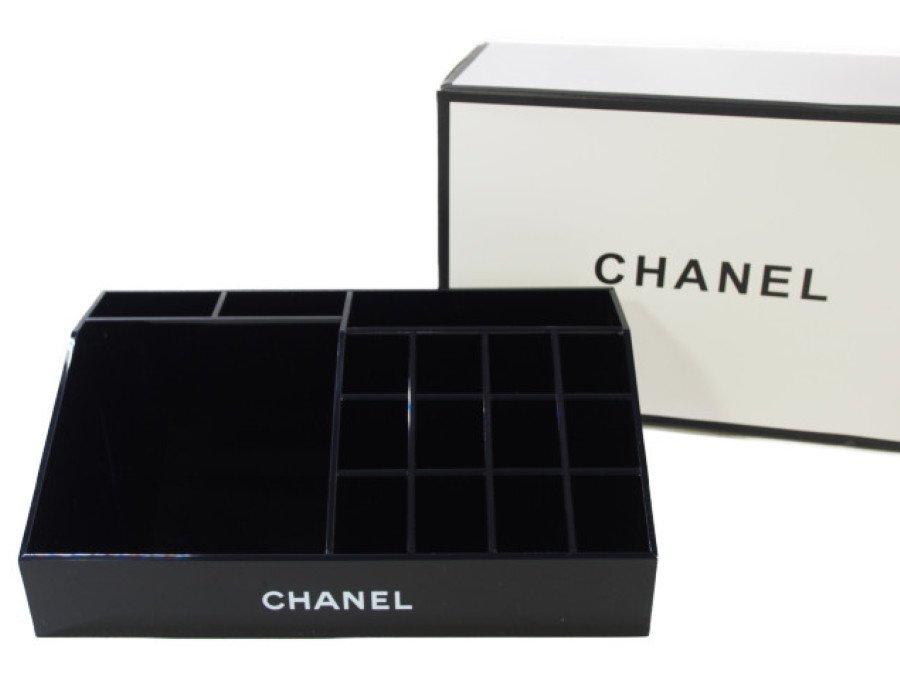 【新品】シャネル CHANEL ノベルティ アクリルケース ルージュスタンド 黒の商品画像