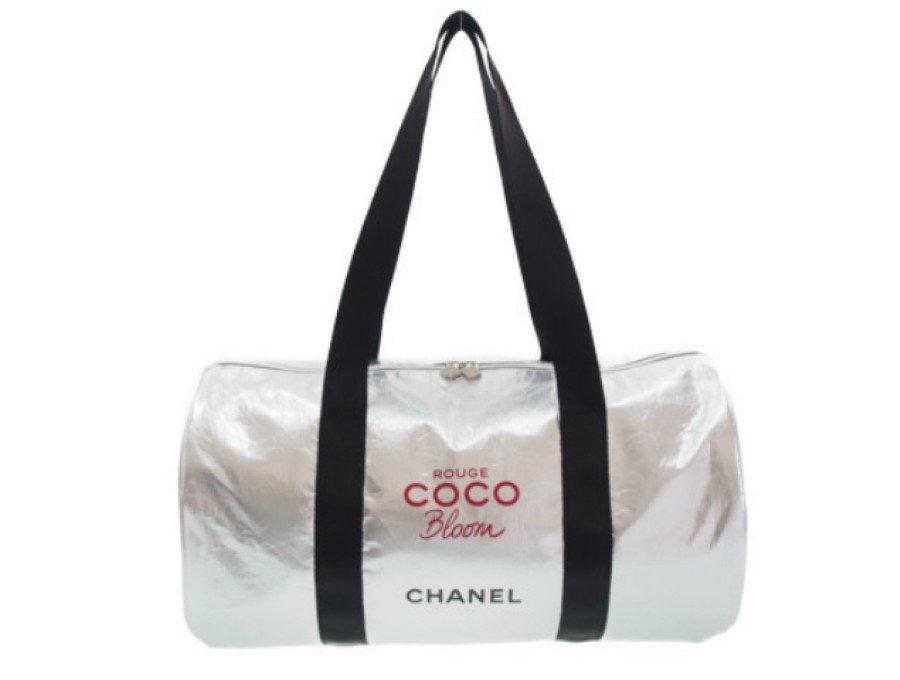 【新品】シャネル CHANEL ノベルティ ボストンバッグ ココブルーム ROUGE COCO Bloom CHANEL メタリック シルバーの商品画像