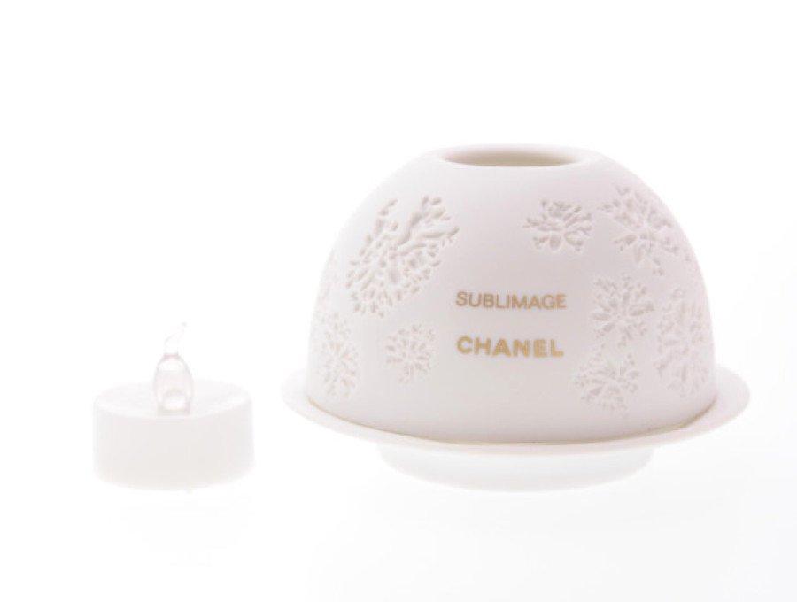 【新品】シャネル CHANEL ノベルティ キャンドルポット 陶器 サブリマージュの商品画像